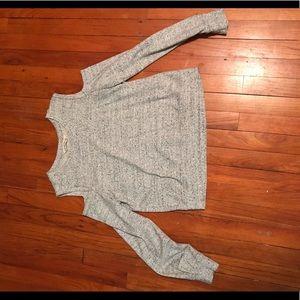 Abercrombie grey open shoulder sweatshirt